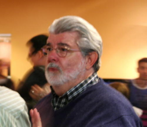 This is George Lucas. He helped create such characters as Han Solo, Luke Skywalker, and everyone's school boy crush, Princess Leia. Also, his neck has a mind of its own.