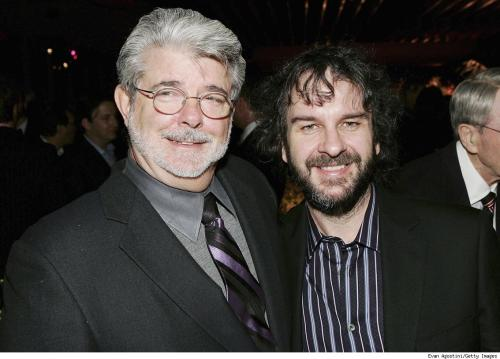 The weight Peter Jackson lost was siphoned into George Lucas' neck.