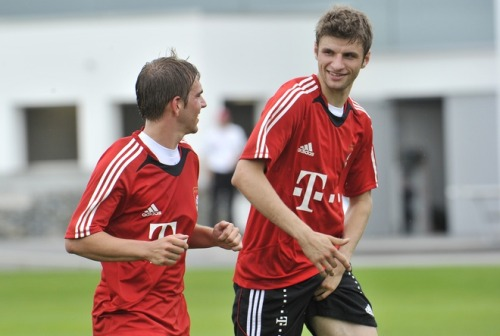 Philipp Lahm and Thomas Mueller