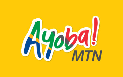 Ayoba! Designed the Ayoba logo for MTN's 2010 World Cup campaign whilst working at MetropolitanRepublic. The logo was later revised to have the South African flag in it.