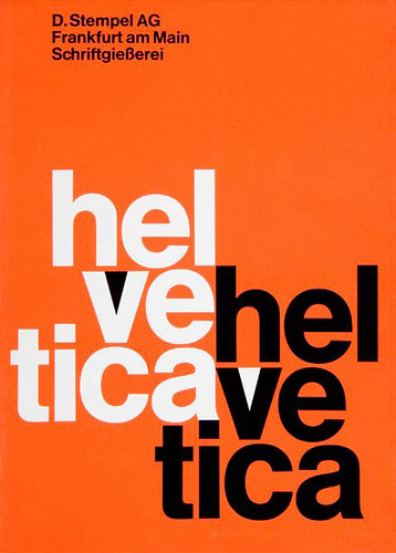 Helvetica PosterDesigned and created by the D. Stempel AG type foundry1960