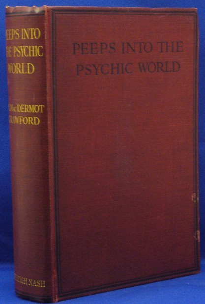 "ghoulnextdoor:  How much do I want a book titled ""Peeps Into the Psychic World""! Peeps!  Hee.  It looks like it is being sold by Weiser; this makes me sad, just a little.  We used to deal directly with Weiser, before the business closed.  Ah, well.  I was well out of there by then, and I guess everything happens for a reason. A series of supposedly supposedly trues stories, involving such  topics as ""the psychic influence of jewels,"" ""past lives,"" ""ghost  stories"" ""invisible helpers"" and  a reprint of ""The Bow-men"" by Arthur  Machen.  (via Peeps Into the Psychic World. The Occult Influence of Jewels And Many Other Things. - CRAWFORD, M. Mac Dermot (Signed). - Bibliopolis)  Ha! I love it!"
