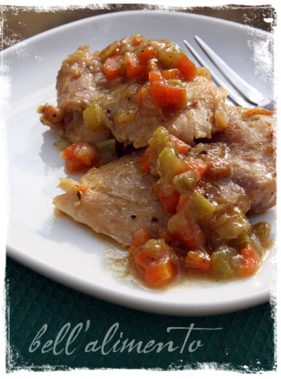 Pollo alla Birra (Chicken in Beer) (via Bell' Alimento) Another tasty chicken thigh recipe… I could even have this on my diet!  I'll probably up the amount of carrots, celery and leeks to boost the veggie intake, but it will do.