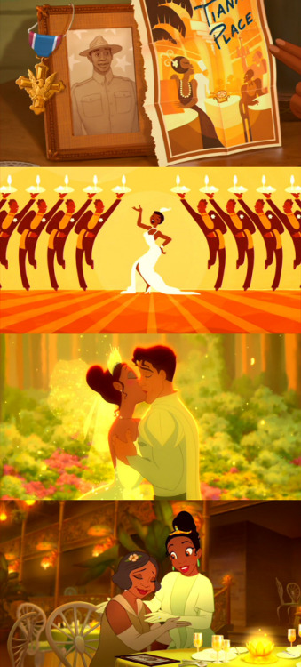 worldfallsdown:  moviesinframes:  The Princess and the Frog, 2009 (dir. Ron Clements and John Musker)By jorjigirl [Note: this is a reframe; you can see the first one here]
