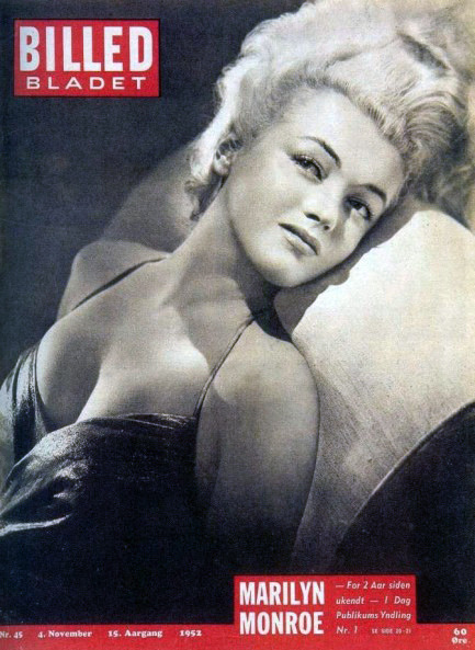 fuckyeahprettyvintage:  retrogasm:  Marilyn Monroe, Cover from Swedish magazine Billed Bladet, 1952
