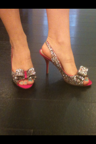 juliaallison:  I must own these.  Lovely, girly, fun.  I love the pop of hot pink along with the glitter!
