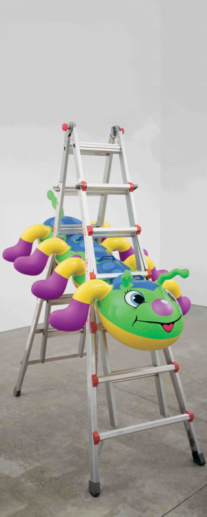 theories-of:  Jeff Koons, Caterpillar Ladder, 2003, Polychromed aluminium, aluminium, plastic, 213.4 x 111.8 x 193 cm