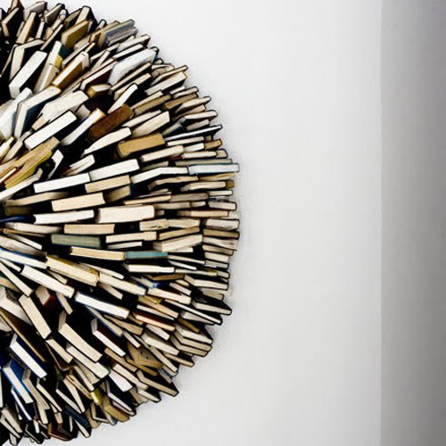 Via problemsolver:  Book Sculpture by Federico Uribe More about Federico  (via ilovereadingandwriting)