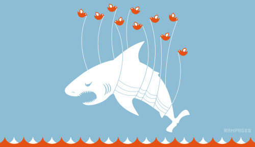 "Blast From The Past: Twitter needs to give the Fail Whale a break this week. I present to you the Fark Shark! I did this in honor of our beloved Shark Week. Hell, even The Discovery Channel agrees! For Your Health: Definition of ""FARK"" Fark Shark by Justin Page (deviantART) (Flickr) (Facebook) (Twitter)"