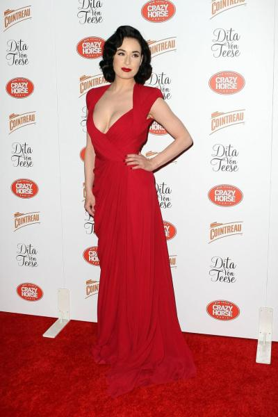 Dita von Teese, March 31 Opening night MGM Grand Crazy Horse Cabaret Show in Las Vegas