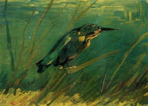 crow-alley:  themagiclantern:  Vincent Van Gogh (1853 - 1890)Kingfisher1886