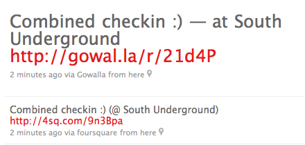 Using @checkdotin to checkin simultaneously through @foursquare & @gowalla simply rocks… great time saver! Check them out at www.check.in  Thanks to @inkv for this tip!