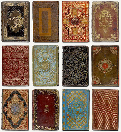 darksilenceinsuburbia:  Historical Bookbindings - British Library Via  i should photograph my collection one day.