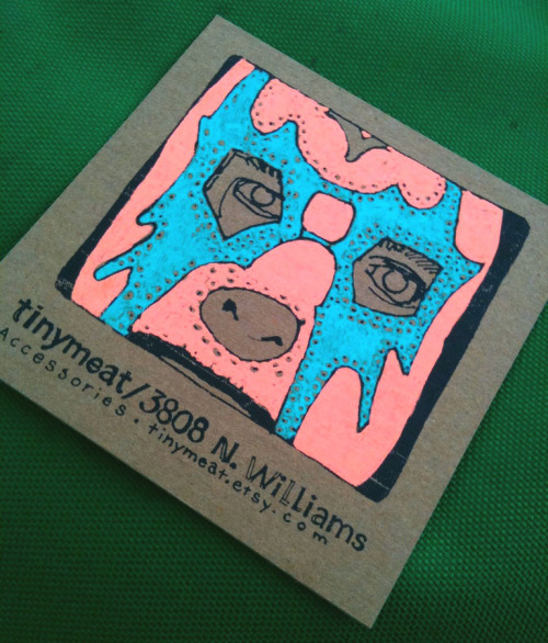 DayGlo Pete I hand colored some of my shop cards amidst all the crazyness at yesterday's Fremont street fair.  I like this one