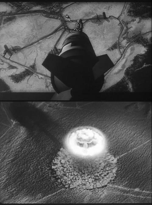 "oldhollywood:  via Dr. Strangelove or: How I Learned to Stop Worrying and Love the Bomb (1964, dir. Stanley Kubrick) ""Some forms of reality are so horrible we refuse to face them, unless  we are trapped into it by comedy. To label any subject unsuitable for  comedy is to admit defeat."" -Peter Sellers"