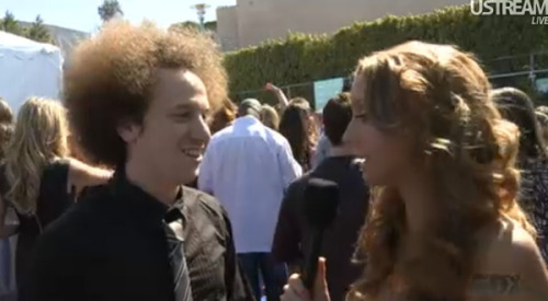 Josh Sussman on the TCA red carpet.