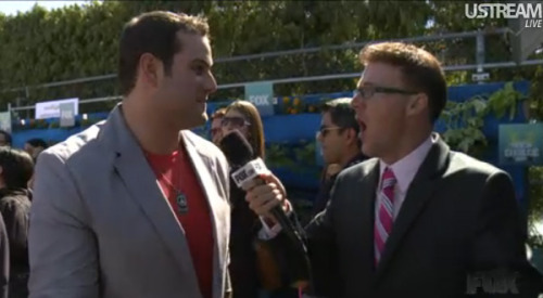 Max Adler (aka Karofsky the Slushie-thrower) on the TCA red carpet.