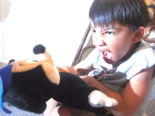 ITS OVER 9000!lil Julius with mickey mouse :)
