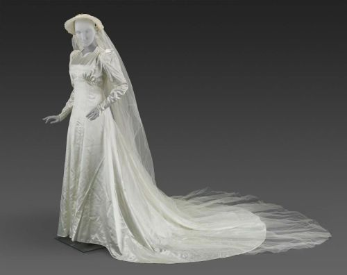 Wedding Dress and Bonnet | c. 1938