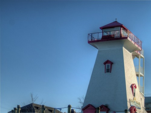 A lighthouse in Fredericton, New Brunswick.