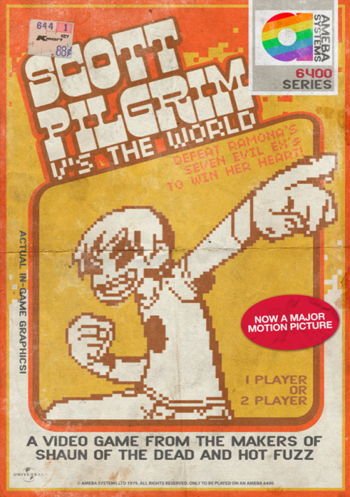 My first go at making an old video game advertisement for Scott Pilgrim V's The World.