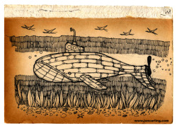 joncarling:  'whale submarine' - Jon Carling