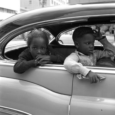 Kids in a car, 1960s? [Vivian Maier - Her Discovered Work]