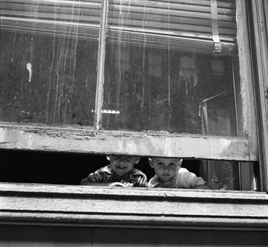 Kids at a window [Vivian Maier - Her Discovered Work]