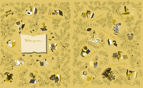 karenh: Dutch Little Golden Books endpapers (via Piet Schreuders)