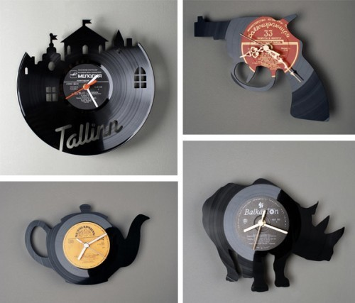 RE_VINYL Clocks by  Pavel Sidorenko Awesome.  Just… awesome. (via ReadyMade)