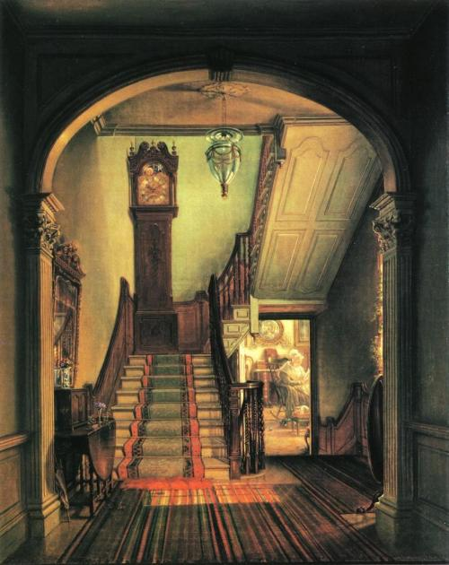 missfolly:  Edward Lamson Henry's 'The Old Clock on the Stairs', 1868