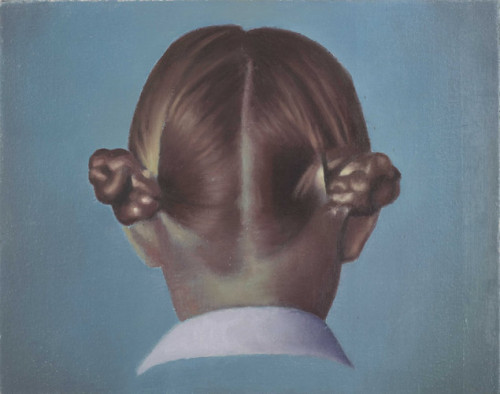 "Christopher Hanlon Untitled (Hair) oil on canvas stretched over board, 18 x 24  cm (7.2""            x 9.5"") 2009"
