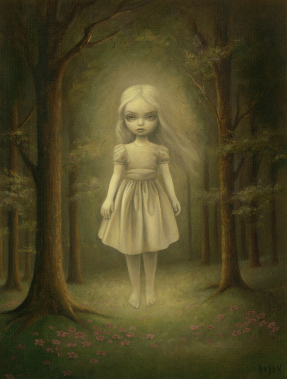 homicidalbrunette:  mudwerks:  liquidnight:  Mark Ryden Ghost Girl Oil on canvas, 2006 From The Tree Show  (via liquidnight)