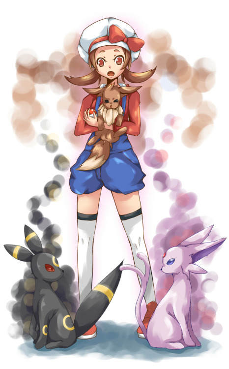 glaceonftw:  espeonespeon:  gymleaderwattson:  ohgoditsblaine:  gymleaderwattson:  ohgoditsblaine:  flamboyantwallace:  gymleaderwattson:  thisiskotone:  My eevee I recieved from Bill is close to evolving… but one problem… I don't know what to evolve him into! Poor Akino…  WAHAHAH, IT'S QUITE SIMPLE KOTONE! GLACEON JOLTEON, OF COURSE! HAHAHHA!  Nonsense, Vaporeon has style and elegance. Go for Vaporeon.   I'm sorry, but I think we all know Flareon is the superior one.  HM..HA. WAHAHA. BAHAHAHHA! YOU'RE BOTH QUITE SILLY. HAHA. HA. SURGE, BACK ME UP ON THIS.  Wattson, if you are so confident about the power of electric pokemon, how about you come over to Cinnabar. I happen to know that you are in Kanto, and I would love to crush battle you.  HA, ANOTHER THING YOU'RE WRONG ABOUT. I'M STILL IN JOHTO, BUT I'M HEADING OVER TO KANTO. I'D LOVE TO BATTLE YOU, AND I PROMISE, MY ELECTRIC POKEMON WOULD NEVER LOSE TO YOU!  ESPEON!! (I'm sure Akino will soon realize that he is destined to become that which is superior all eevee forms: Espeon! I hope all this fuss shall soon cease.)  Glaceoonn glaa cee.. Glaceon ceon glaa ;~;(I would recommend Glaceon.. But then you have to go to Sinnoh ;~;)   Flareeeoon! Flareee. Flareon, flaree…flaaareon? (I must agree with Blaine. Flareon is the answer. Look at me. I am simply adorable and badass at the same time, am I not…?)