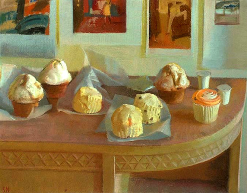 Scott Noel Still Life with Blueberry Muffin 2002