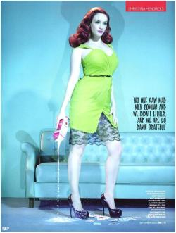 It's the red hair :)  suicideblonde:  bohemea:  Christina Hendricks - GQ UK by Miles Aldridge, September 2010
