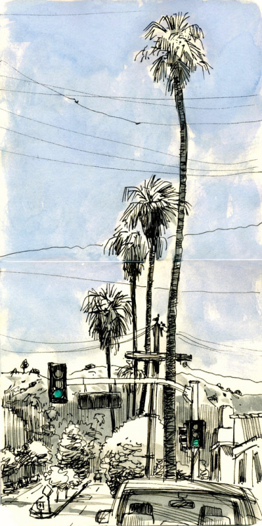 Ordinary Views, very cool sketches from Pasadena by VHein at Urban Sketchers. I love that she included the power lines.