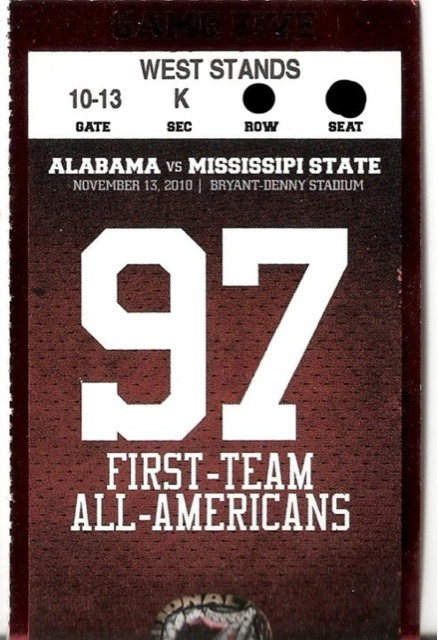 "secfootball:  Alabama misspells ""Mississippi"" on tickets Twitpic - Share photos on Twitter"