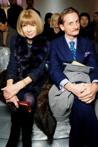 A chic duo: Anna Wintour and Hamish Bowles.