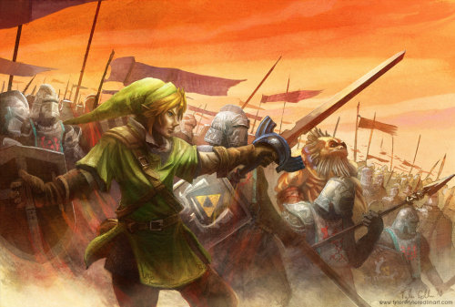 Awesome Legend of Zelda art! Zelda: The Last Hyrulian War by *gamefan84 on deviantART