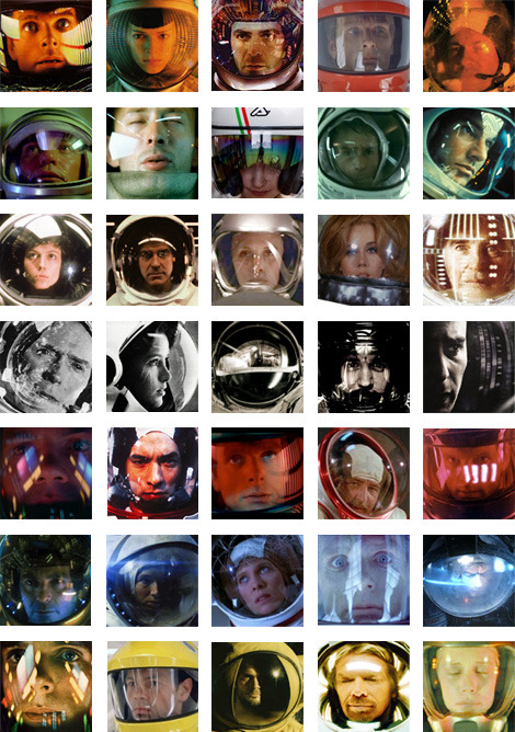 THIRTY-FIVE IMAGES OF SPACE HELMET REFLECTIONS?! The internet knows me the best.