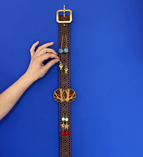 Belt As Earring Holder