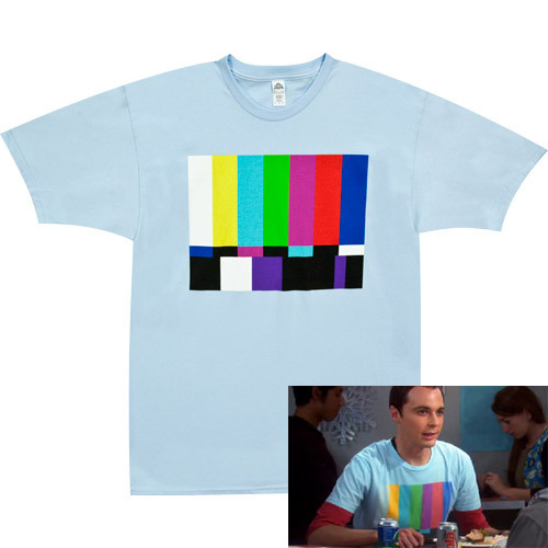 shirtoid:  Sheldon's Test Pattern Shirt available at 80sTees