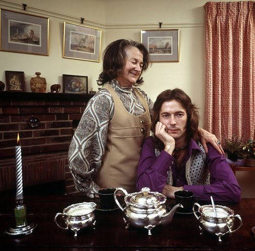 Eric Clapton and his grandmother, Rosein Surrey, Englandphoto by John Olson, 1970
