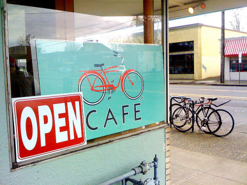 Little Red Bike Cafe - Portland, Oregon (by The Impression That I Get)
