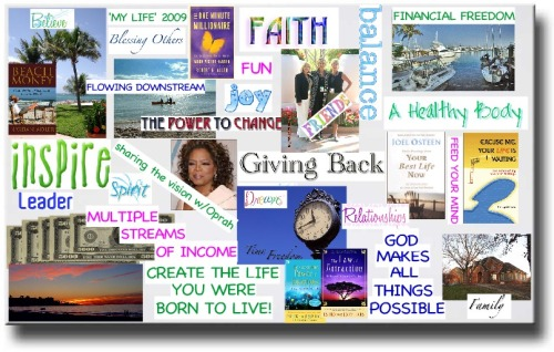 Have you guys heard of a vision board?…. well they say for your dreams/goals to come true you must visualize it everyday… and put it somewhere you will see everyday… so today im getting magazines, pictures, newspapers, a piece of cardboard, glue, and scissors, and Im making myself a Vision board… i'll post the finished product later… I encourage you guys to try it…