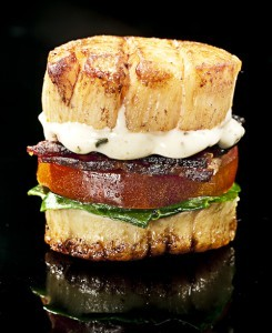 soupsoup:  Scallop BLT  I still hold that I make the greatest BLT  but this is really close.