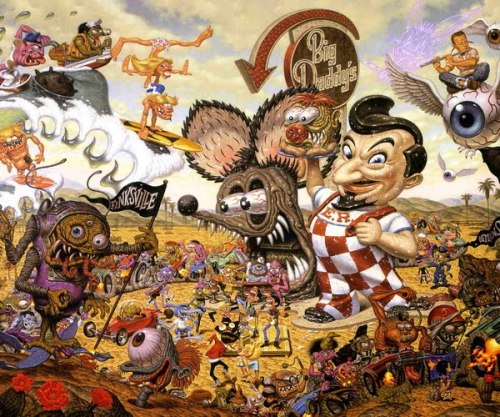 It's Hieronymus Bosch meets the Ed Roth. I Love it.