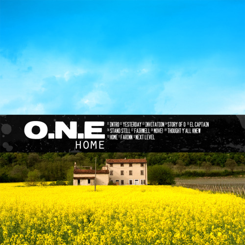Custom cover for O.N.E's sophomore album 'Home'. Check out their Facebook page for some good music.