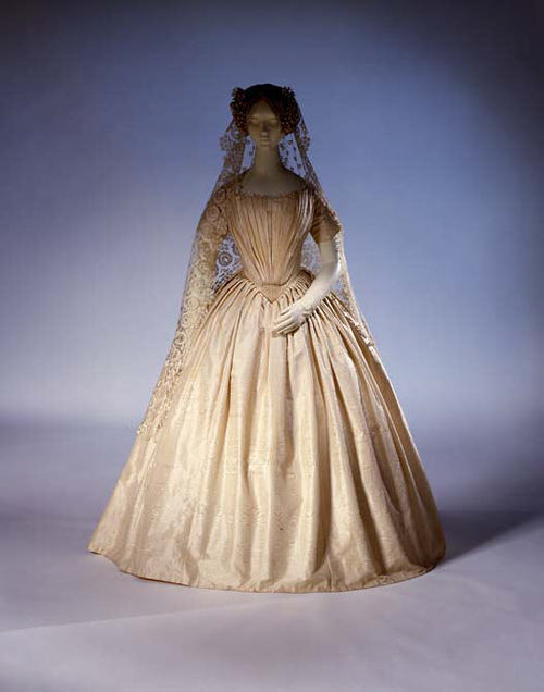 Wedding Dress | c. 1844  Met Museum